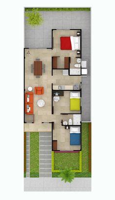 Plano de casa de 160m2 3 pisos 4 dormitorios planos de for Casa minimalista guayaquil