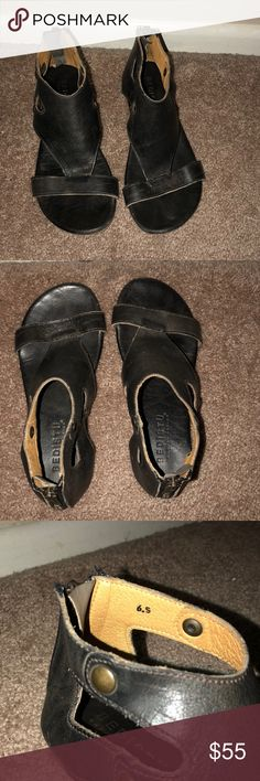 Bed Stu black leather sandals Most comfy shoes ever (unfortunately a bit too small on me)  Bed Stu genuine leather black sandals. Worn a few times. Bed Stu Shoes Sandals
