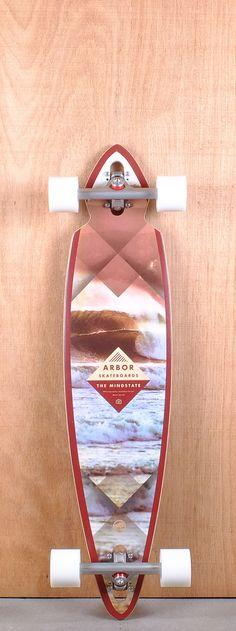 "Arbor 38"" Mindstate Walnut Longboard Complete"