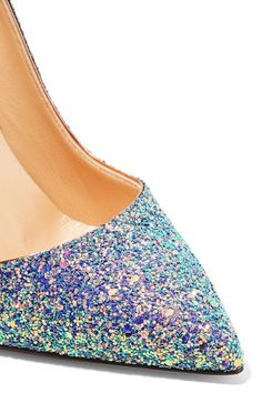 4a3152be54 Christian Louboutin - So Kate Dragonfly 120 glittered leather pumps