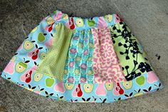 Very cute skirt tutorial. Interesting approach at the waistline- think I'll try this next time!