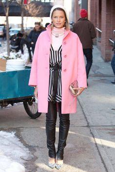 pink coats fall 2014   ... , looks de Outono e Inverno da Street Style com vários tons de pink
