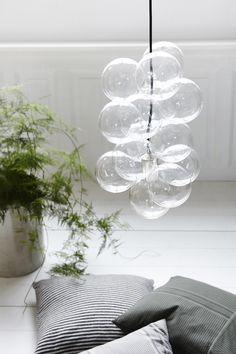 Glazen bollen lamp van House Doctor.
