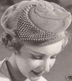 vintage crochet beret 100 Unique Crochet Hats