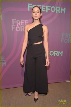 f847bc2063f Actress Troian Bellisario attends 2016 ABC Freeform Upfront at Spring  Studios on April 2016 in New York City.
