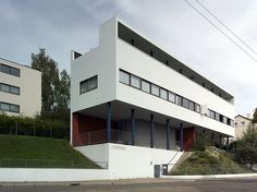 "Le Corbusier | Charles-Édouard Jeanneret-Gris (1887-1965) with Pierre Jeanneret (1896-1967) | Double house in the Weissenhofseidlung | Stuttgart, Germany | For the Deutscher Werkbund exhibition ""Die Wohnung"" | 1927"