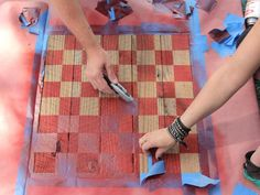 How to Build a Rustic Checkerboard Table : How-To : DIY Network