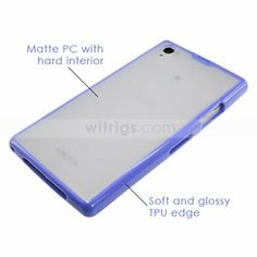 Sony Xperia Z1 Soft TPU Bumper with Frosted PC Hard Case - Witrigs.com #xperiaZ1 #SonyXperiaZ1Case