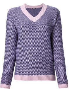 JIL SANDER NAVY check knit jumper - £273 on Vein - getvein.com