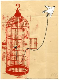 I know why the caged bird sings - because she dreams of what it's like to soar above the sky.