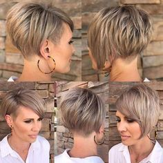 Beautiful Short Haircuts New Hairstyles - Hairstyles Style Hair-Schöne Kurze Haarschnitte Neue Frisuren – Frisuren Stil Haar Beautiful Short Haircuts – Hairstyles Style Hair - Tomboy Hairstyles, Short Bob Hairstyles, Hairstyles Haircuts, Short Stacked Haircuts, Short Stacked Bobs, Short Hair Cuts For Women, Short Hair Styles, Pixie Cut, Hair Dos