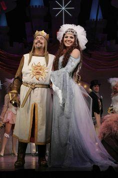 Sara Ramirez (Callie Torres) as the Lady of the Lake in Spamalot on Broadway. Grey's Anatomy.