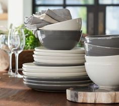 The Joshua Dinnerware offers a fresh, contemporary look for the table that you will want to use for elegant dinners as well as casual meals. Replicated from a hand-thrown original, each piece reveals an organic textural feel and look.
