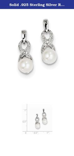 Solid .925 Sterling Silver Rhod Plated Diamond and FW Cultured Pearl Post Ear 18x6mm. Material: Primary - Purity:925|Stone Type_1:Diamond|Stone Type_2:Pearl|Stone Color_2:White|Stone Quantity_1:2|Stone Quantity_2:2|Length of Item:18 mm|Stone Setting_1:Prong Set|Stone Setting_2:Glue|Stone Weight_1:0.006 ct|Material: Primary:Sterling Silver|Stone Shape_1:Round|Stone Shape_2:Round|Stone Size_2:6 mm|Stone Treatment_2:Bleaching|Width of Item:6 mm|Product Type:Jewelry|Jewelry...