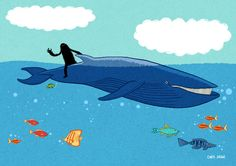 Chris Judge: www.folioart.co.uk/illustration/folio/artists/illustrator/chris-judge - Agency: www.folioart.co.uk - #illustration #art #digital #whale
