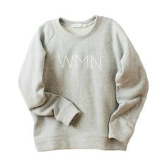 """Our WMN sweatshirt signifies the shift feminine consciousness when we gather with women. We collaborated with Live The Process to design a piece that would empower women. The fit is oversized and features the Live The Process logo on the sleeve as a gentle reminder to pause and """"live the process"""". Made in California."""