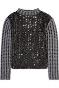 Marc Jacobs Sequined ribbed-knit wool-blend sweater: Net-a-porter