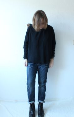 Loose Fit Jeans with Boots