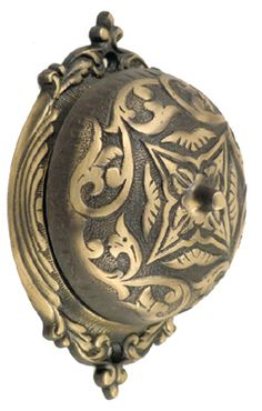 Sarah Rotary Doorbell, Antique Brass