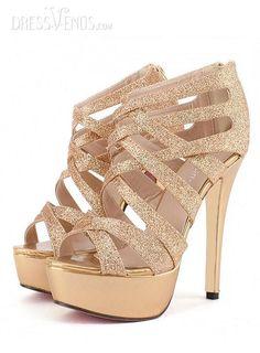 Most Fashion Golden Stiletto Heel Strappy  Euramerican Style Women Sandals