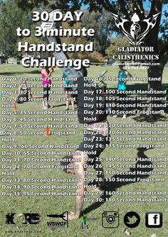30 day handstand challenge