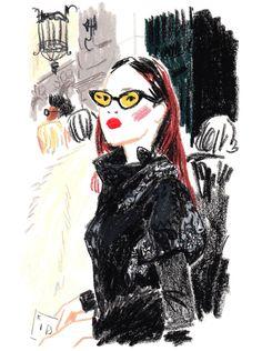 Illustration by Damien Florébert Cuypers   Duang Poshyanonda, editor-in-chief of Harper's Bazaar Thailand.