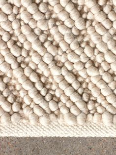 Gravel Rug by Nina Bruun - Wool Gravel Rug | MENU Furniture & Decor Large Rugs, Small Rugs, Milk Shop, Weaving Techniques, Rugs In Living Room, Custom Items, Natural Materials, Furniture Decor, Ivory