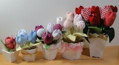 Tutorial fabric flower- tutorial tulipani di stoffa in spagnolo con foto dettagliate!