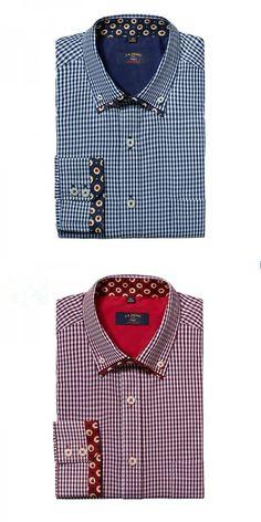 Men's long sleeve shirt brand business casual shirts high quality men unique neckline design classic Men plaid shirt plus size