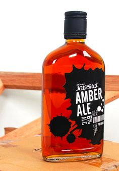 Amber Ale the black really pops against the amber ale for all our #beer loving #packaging peeps PD