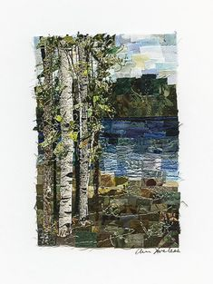 Lake Small Fabric Mosaic Quilt | Quilts By Ann