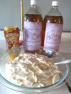 Harry Potter Butter Beer - recipe and links to labels.