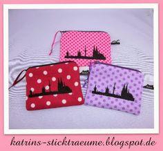 Reißverschlusstäschchen Köln Skyline