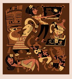 Derek Art - Illustration, Serigraphs, Paintings, and Tiki Mugs