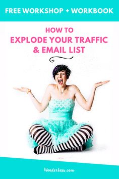 Ready to learn exactly how to increase your traffic and explode your email list so that you can finally start making a living with your blog or online business? Click through to get tons of action steps with the free workshop + workbook for bloggers and entrepreneurs!