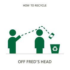 Sorry Fred. #sorrynotsorry #howtorecycle