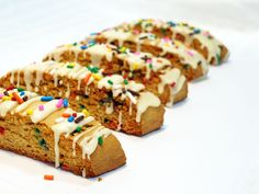 Cake batter biscotti - Sprinkles » Say it with Sprinkles: A baking blog filled with recipes & photos of sweet treats & savory eats.