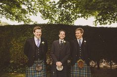 Traditional kilts for the groom and his groomsmen at this destination wedding in Scotland.   Photo: Ed Peers   Via Snippet & Ink