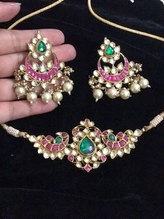 Bridal Necklace, Bridal Jewelry, Chocker Necklace, Indian Wedding Jewelry, Indian Jewelry, Jewelry Sets, Jewelry Making, Jewelry Design, Designer Jewelry