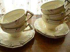 Tudor Dinner Ware Cups  Art DecoPattern: TUE2 by Tudor