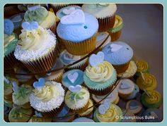 Wedding Cupcake Tower : Detail by Scrumptious Buns (Samantha), via Flickr