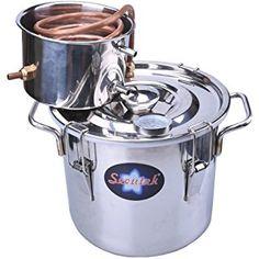 Seeutek 3 Gal 12L Water Alcohol Wine Distiller Moonshine Still Kit Stainless Boiler Copper Thumper Keg