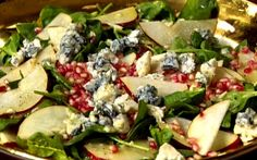 Pear and Pomegranate Salad with Gorgonzola and Champagne Vinaigrette
