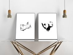 """We have two versions of our popular poster """"TWO FACED"""" Two Faces, Artwork Prints, Posters, Hand Painted, Popular, Artist, Too Faced, Artists, Poster"""
