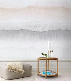 papier peint Gryning de la collection Carl de Sandberg inspiré d'un couché de soleil en Suède.. http://www.aufildescouleurs.com/carl/4365-gryning-618-05.html