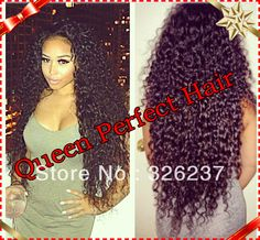 Top Quality Virgin Brazilian Front Lace Wigs/Glueless Full Lace Wigs Kinky Curly Remy Human Hair for Black Women US $113.00 - 244.00