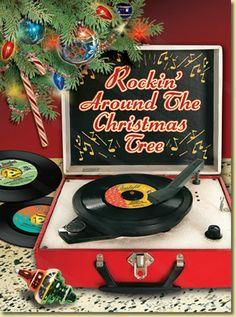 Rockin' Around the Christmas Tree greeting card.