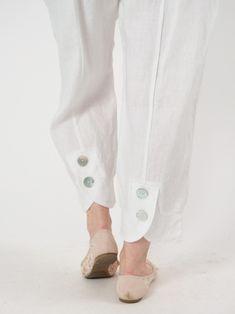 Brandi pants by chalet button trousers outfit ideas for women. Salwar Designs, Kurti Neck Designs, Dress Neck Designs, Kurta Designs Women, Kurti Designs Party Wear, Blouse Designs, Kurti Sleeves Design, Sleeves Designs For Dresses, Salwar Pattern