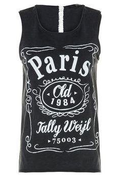 "Black ""Paris"" Print Vest Top #TALLYWEiJL #new #collection"
