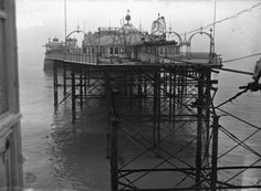 Palace Pier 1945 Brighton Sea, Brighton And Hove, Historical Pictures, Old Pictures, Liverpool, Palace, England, The Incredibles, History